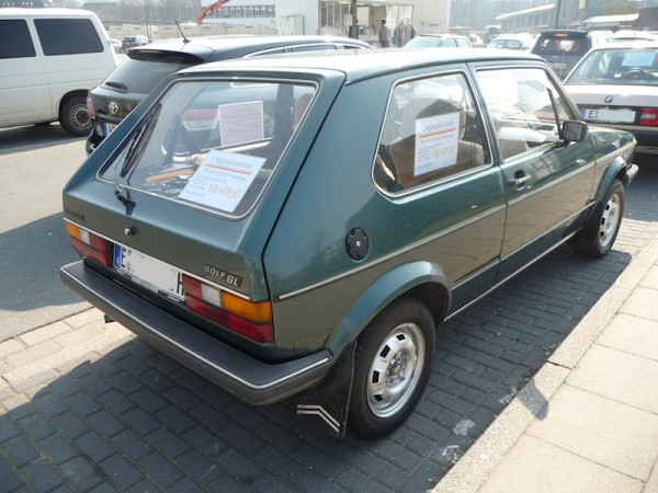 VW Golf I GL SRA hinten