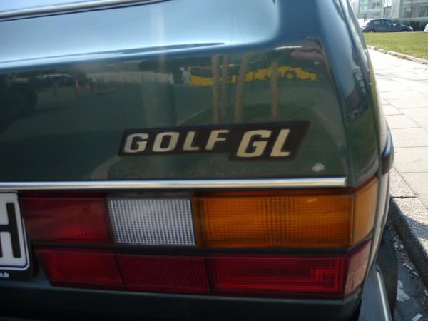 VW Golf I GL SRA Schriftzug
