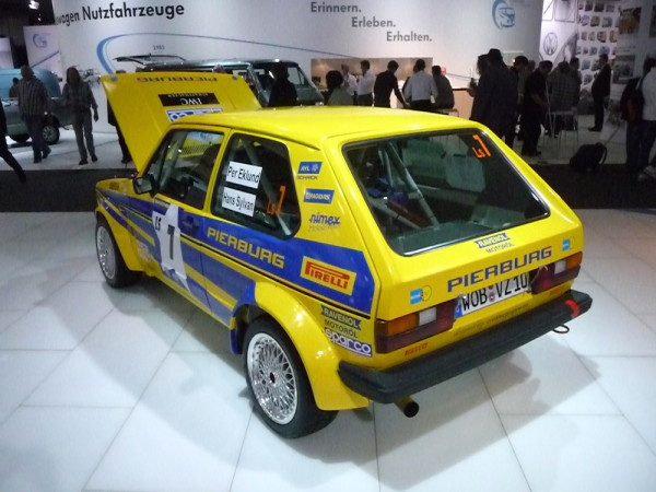 VW Golf I Rallye Pierburg hinten links